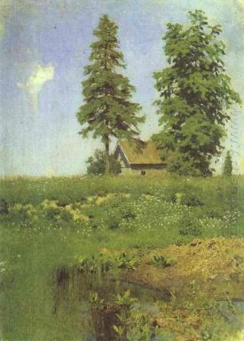 Small Hut In A Meadow