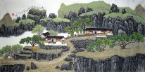 Stone Mountain - Chinese Painting