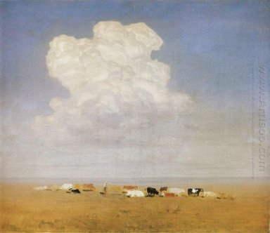 noon herd in the steppe