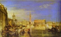 Bridge Of Sighs Ducal Palace And Custom House Venice Canaletti P