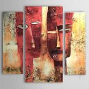 Hand-painted People Oil Painting - Set of 3