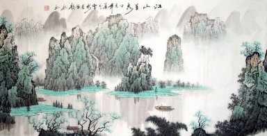 Moutains and river-Guiling - Chinese Painting