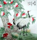 Peach&Crane - Chinese Painting
