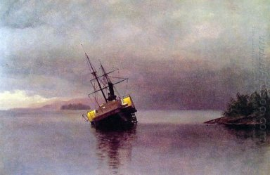 wreck of the ancon in loring bay alaska 1889