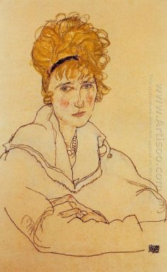 portrait of edith schiele 1918