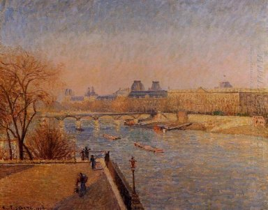 the louvre winter sunshine morning 1900