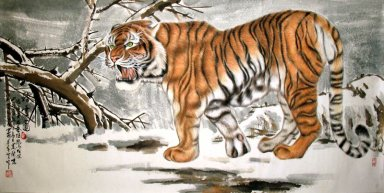 Tiger-Fab Five - Chinese Painting
