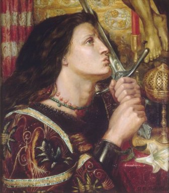 Joan Of Arc Kisses The Sword Of Liberation 1863