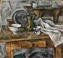 Still Life Table With The Dishes 1919