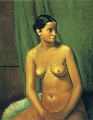 the female nude in front of green hanging 1923