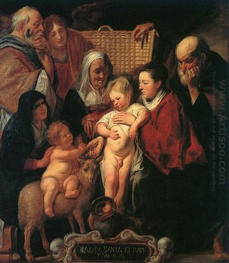 The Holy Family With St Anne The Young Baptist And His Parents