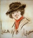 Drawing of Eliza Doolittle, a character from George Bernard Shaw