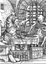 Death And The Miser From The Dance Of Death 1523