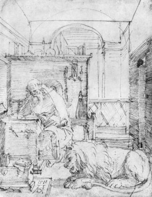 st jerome in his study 1511