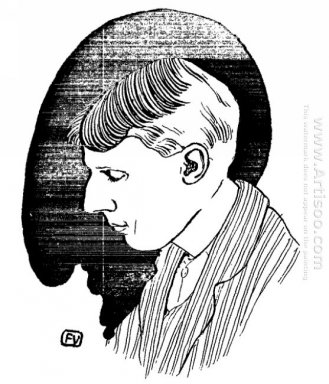 Portrait Of English Writer And Illustrator Aubrey Beardsley 1898
