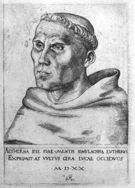 Martin Luther As A Monk 1520