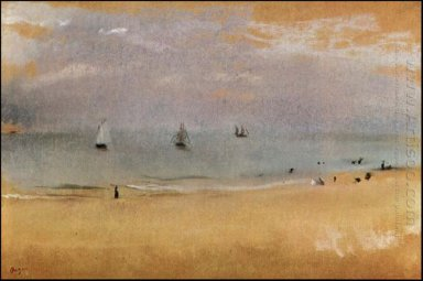 beach with sailing boats