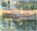 The Banks Of The Seine With Boats 1887