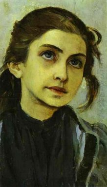 Portrait Of A Girl Study For Youth Of St Sergiy Radonezhsky