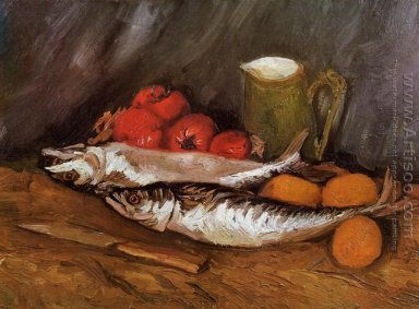 Still Life with Mackerels, Lemons and Tomatoes