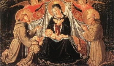 Madonna And Child With St Francis And The Donor Fra Jacopo Da Mo