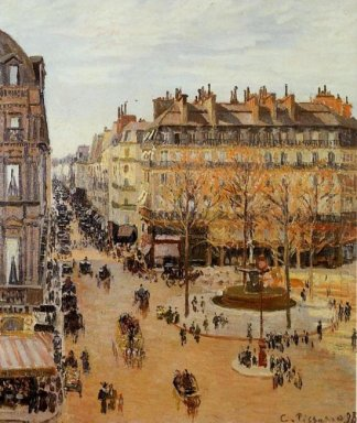 rue saint honore sun effect afternoon 1898