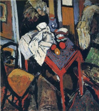 still life on the red table 1904