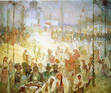 the coronation of the serbian tsar stepan dusan as east roman em
