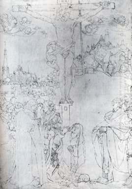 crucifixion with many figures 1523