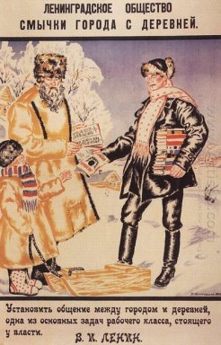 Poster Of The Leningrad Society Bows Town And Country 1925