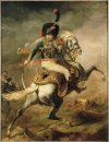 Officer Of The Chasseurs Charging On Horseback