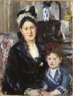 Mme Boursier And Her Daughter 1873