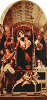 Altar Of Recanati Polyptych Main Board Madonna Enthroned With Th
