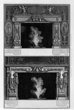 Two Fireplaces Overlapping The Inf With Medusa Heads Between Two