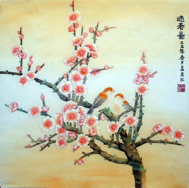 Birds-Plum - Chinese Painting