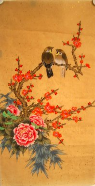 Plum&Birds&Peony - Chinese Painting