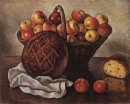 Still Life With Apples And A Round Bread 1948