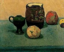 Earthware Pot and Apples