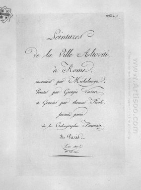 The Title Page Bearing The Inscription De La Villa Altoviti Pain