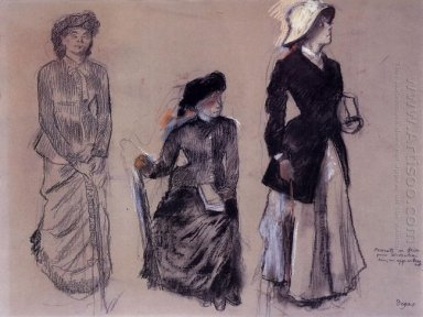 project for portraits in a frieze three women 1879