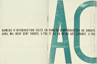 Cover Of The Launch Issue Of Art Concret 1930