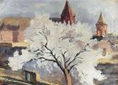 Apricot Tree In Blossom 1942