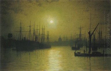 Nightfall On The Thames 1880