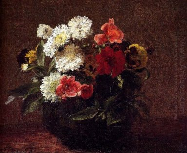 Flowers In A Clay Pot 1883