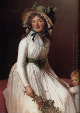 Madame Pierre Seriziat Nee Emilie Pecoul With Her Son Emile 1795