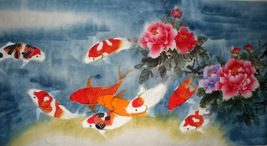 Fish&Peony - Chinese Painting