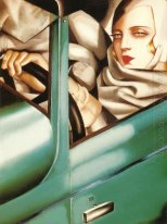 Portrait In The Green Bugatti 1925