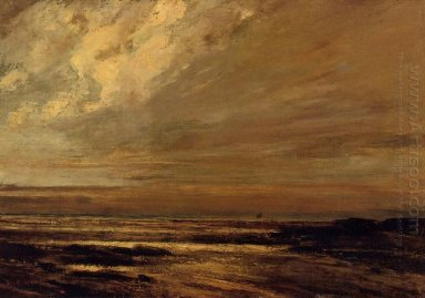 The Beach At Trouville At Low Tide 1865