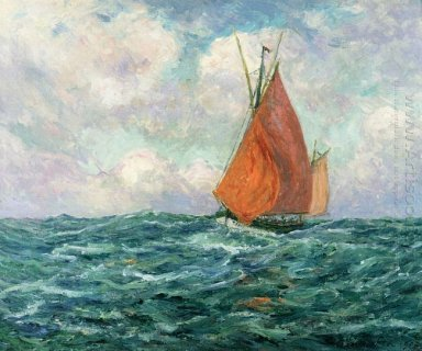 Tuna Boat At Sea 1907