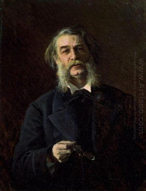 Portrait Of Dmitry Vasilyevich Grigorovich 1876
